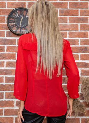 Блузы красная беж -xs s m l