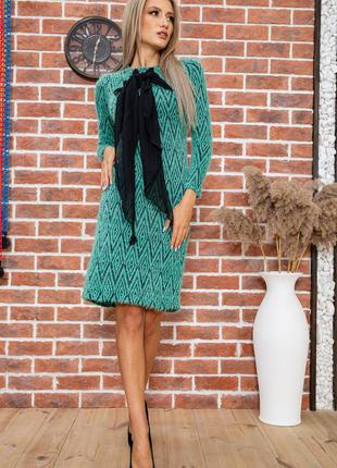 Тёплые платья миди осень зима 2 цвета s m l