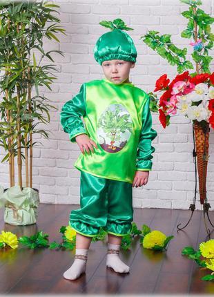 Детский маскарадный костюм растение петрушка костюми рослин