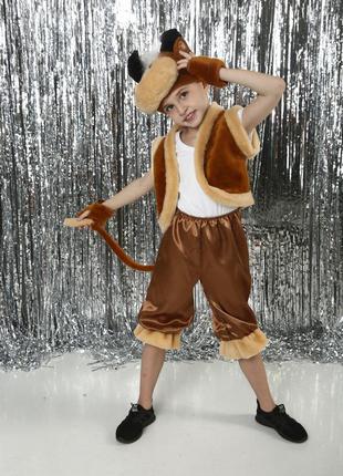 Детский маскарадный костюм бык бычок теленок новорічний костюм бичка