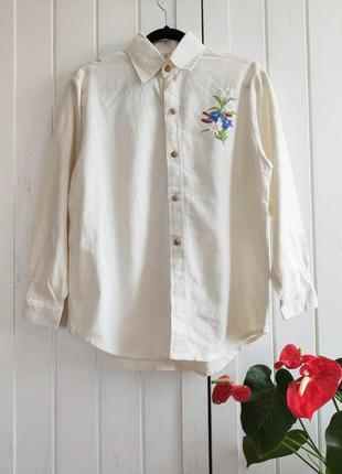 Этно рубашка с вышивкой, размер m, xxl