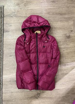 Оригинальная куртка пуховик adidas фуксия