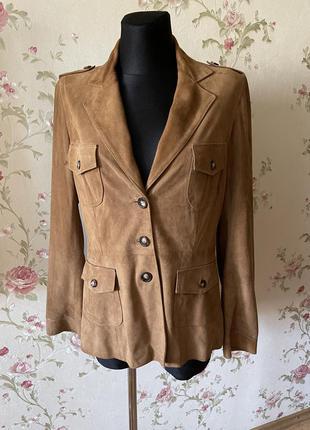 Замшевый пиджак жакет gerard darel p.38 нюанс