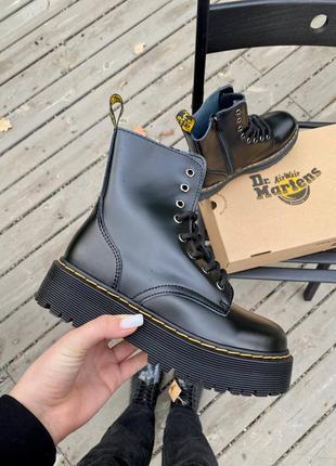 Женские кожаные ботинки dr. martens jadon black