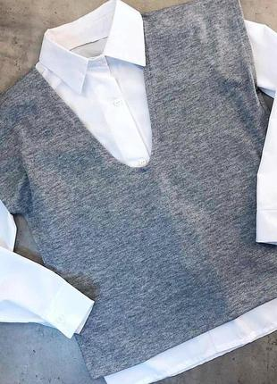 Комплект жилет + рубашка