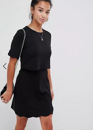 Черное оригинальное платье asos / большая распродажа!