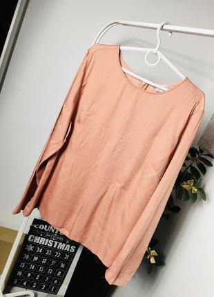 Пудровая блуза из сатина от h&m