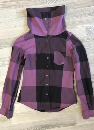 Рубашка в клітку з хомутом
