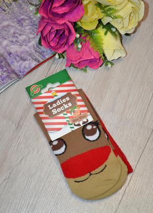 Новогодние носки ladies socks