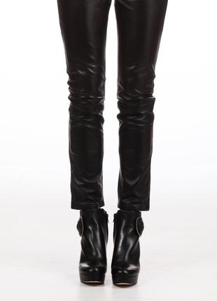Новые кожаные брюки belair франция штаны из кожи