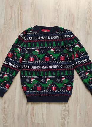 Новогодняя рождественская кофта свитшот свитер от primark на 7-8лет