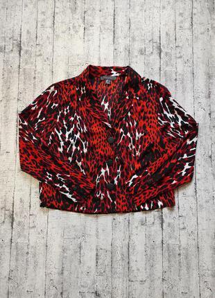 Блуза/пиджак в животный принт