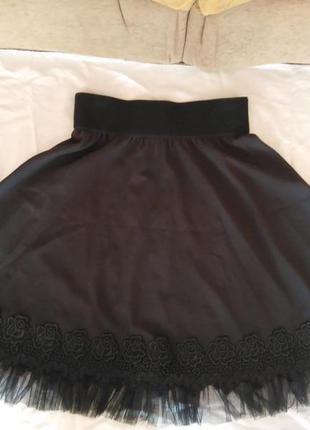 Красивая юбка солнце для девочки