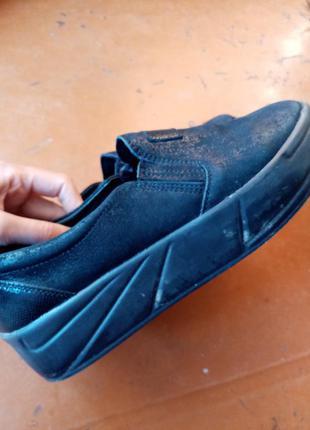 Туфли кожа с блестящим напылением