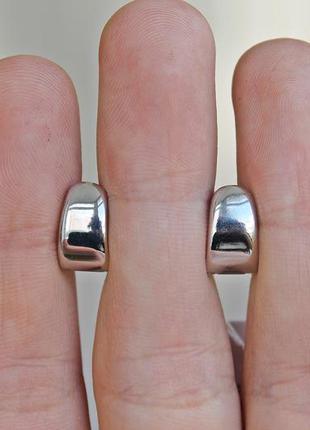 Серебряные серьги зефир