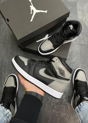 Мужские кроссовки nike air jordan  high s black/d.gray