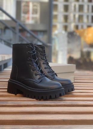 Женские ботинки кожаные без мех