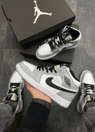 Мужские кроссовки nike air jordan  high s gray/black