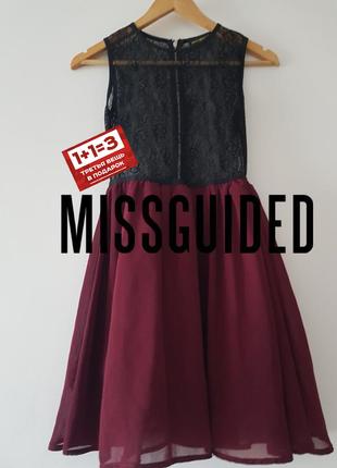 Шыкарное платье с гепюровым верхом в идеальном состоянии 🖤 missguided 🖤
