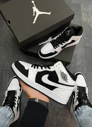 Мужские кроссовки nike air jordan  high s black/white