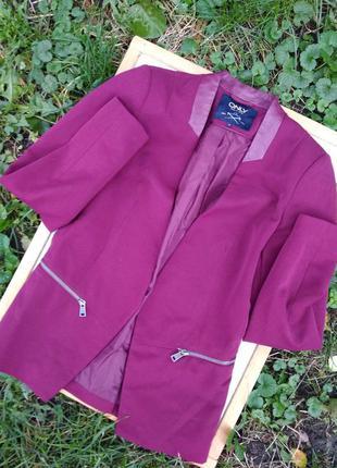 Пиджак с кожаными вставками💫