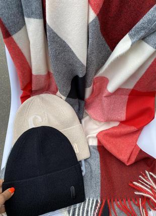 Кашемировый шарф /палантин в клетку ❤️💣