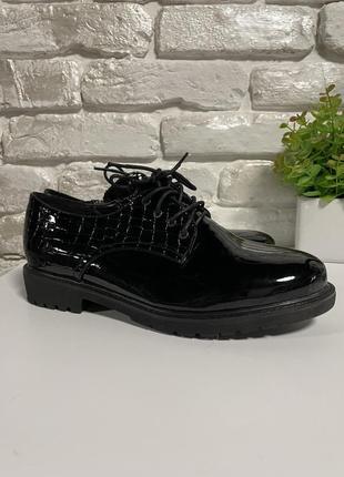 Осенние туфли ботинки на шнуровке 40 размер
