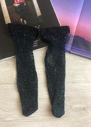 Носки сетка с люрексом