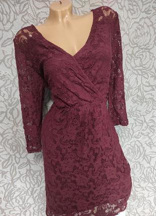 Платье с гипюра