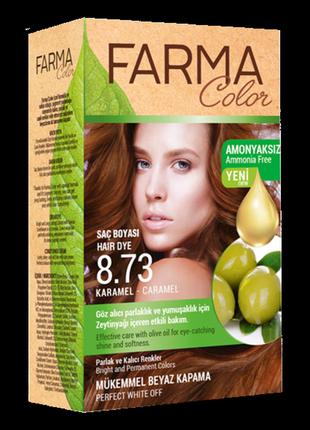 Крем-фарба для волосся farma color 8.73 карамель