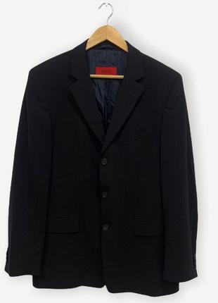 Классический костюм hugo boss чорный оригинал