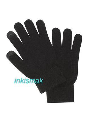 Перчатки с сенсорными пальчиками touch screen primark
