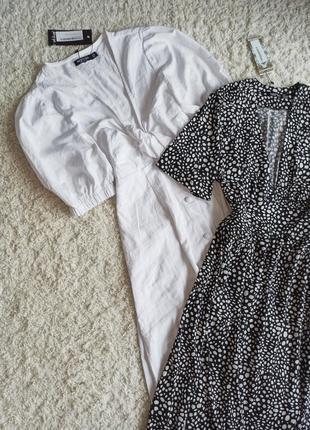 Платье в пол тренд обьемные рукава