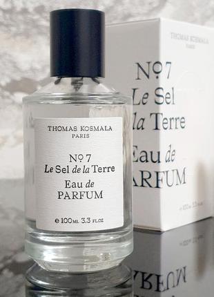 Thomas kosmala no 7 le sel de la terre 2 мл оригинал затест распив и отливанты аромата