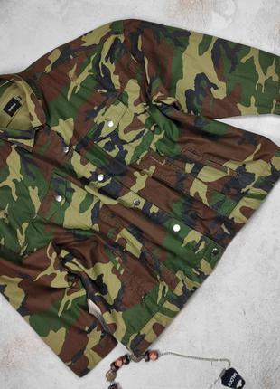 Куртка пиджак в стиле милитари камуфляж большой размер boohoo uk 24/52/5xl