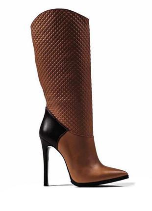 Новые шикарные женские сапоги из натуральной кожи modus vivendi, производство украина, размер 39