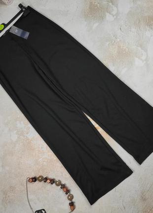 Штаны брюки новые плотные трикотажные черные marks&spencer uk 12/40/m
