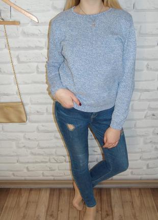 """Голубой свитер с белой нитью """" ewm """""""