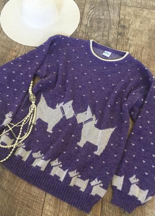 Винтажный английский свитер джемпер