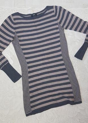 Туника платье полосатое