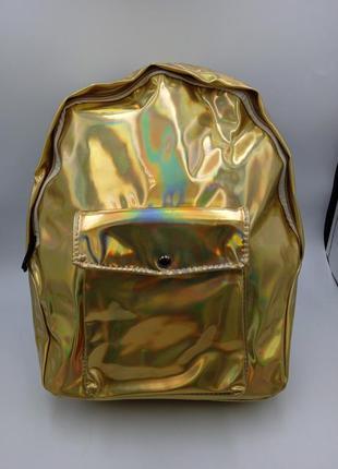 Женский рюкзак голограмма хамелеон