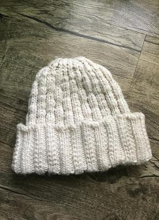 Шапка шапочка тепла тёплая вязаная в'язана