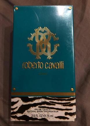 Королевский парфюм roberto cavalli eau de parfum 75ml абсолютно новый запечатан