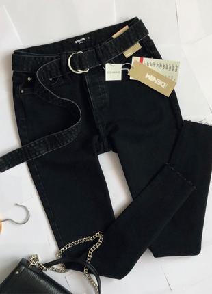 Новые обалденные джинсы slim с поясом sinsay (слим)
