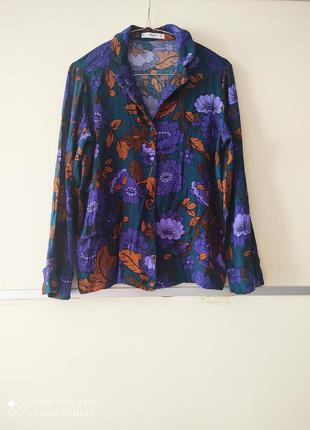 Блуза в бельевом пижамном стиле