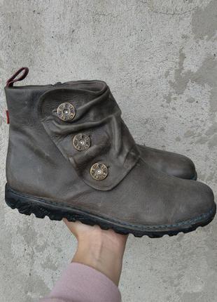 Р.39 ecco (оригинал) кожаные ботинки.