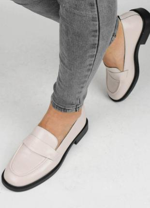 Туфли женские бежевые (336982) / 100863