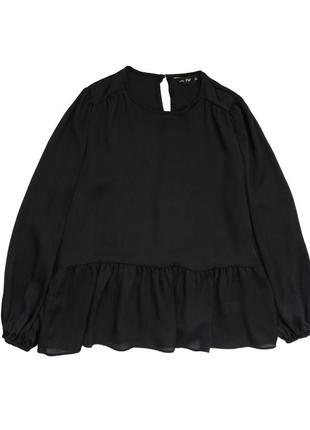 Гарна блуза з обємними рукавчиками на резинці  розмір л хл  стан ідеальний