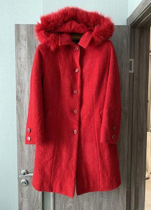 Классическое пальто натуральная шерсть
