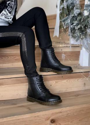 Шикарные ботинки dr martens(мех)